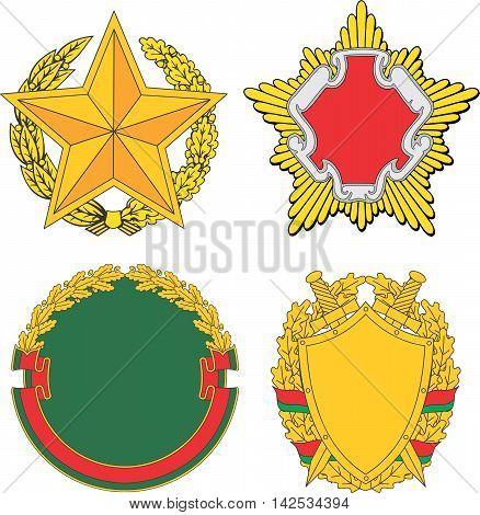 Belarus Emblematic And Heraldic Templates