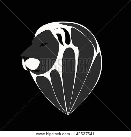 Lion face logo emblem template for business or t-shirt design.