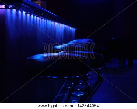 Some bar with blue decoration in Iasi