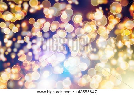 Abstract circular bokeh background of Christmaslight .