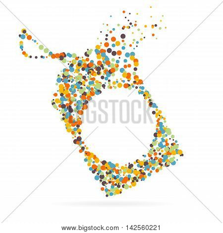 Abstract creative concept vector icon of tag discounted for web and mobile app isolated on background. For art illustration template design, business infographic, social media, digital flat silhoette.