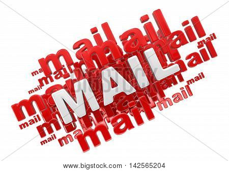 Mail. Image with clipping path. 3d Illustration.