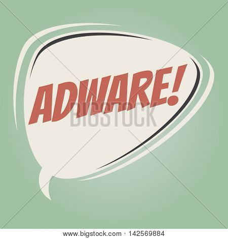 adware retro speech balloon