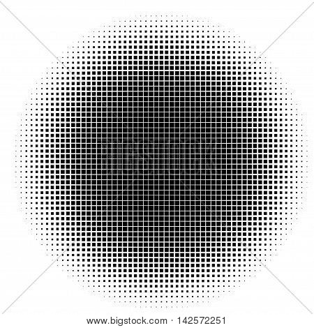 black and white halftone pattern. Stock vector illustration