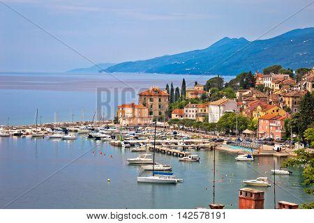 Volosko and Opatija waterfront view Kvarner bay of Croatia