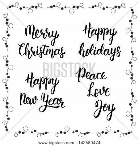 Christmas Calligraphy Vector & Photo (Free Trial)   Bigstock