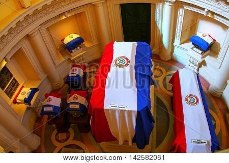 Asuncion, Paraguay - December 26: Interior Of  National Pantheon Of The Heroes On December 26, 2014