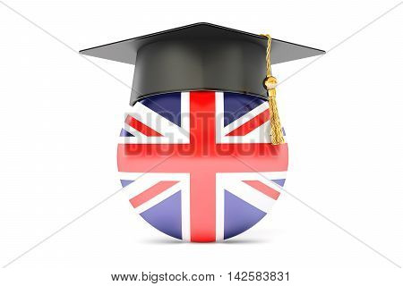 education in Great Britain concept 3D rendering