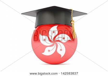 education in Hong Kong concept 3D rendering isolated on white background