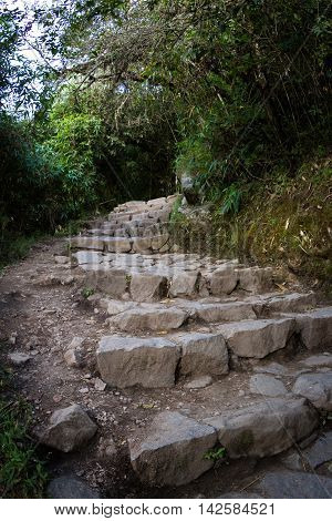 Hiking Trail In Machu Pichu