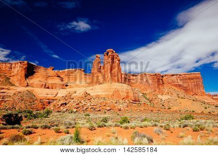 The Three Gossips At Arches National Park, Utah, Usa