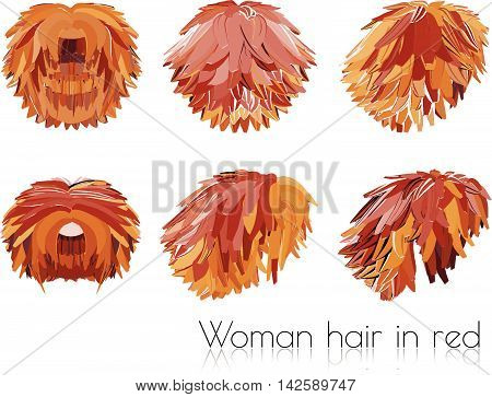 Woman Hair In Red
