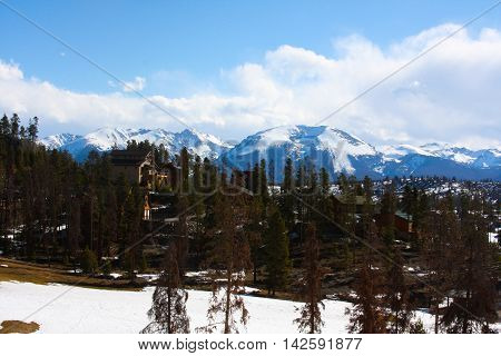 Winter Landscape And City At A Ski Area