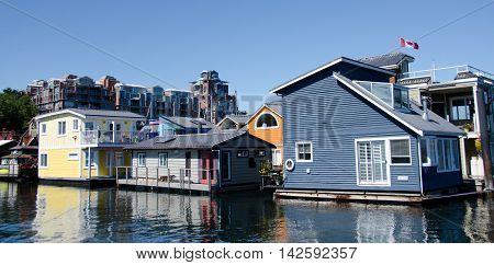Summer Colors In Float Home Village, Victoria - 7