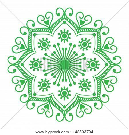 Floral mehendy lower pattern ornament. Vector illustration mehendy pattern asian textile style india tribal ornate. Ethnic ornamental lace vintage mehendy pattern mandala flower abstract textile