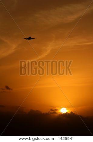 Jet Over Sunset