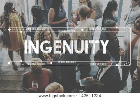 ingenuity Inventiveness Cleverness Insight Creativity Concept