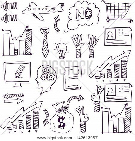 Doodle of hand draw business stock vector illustration