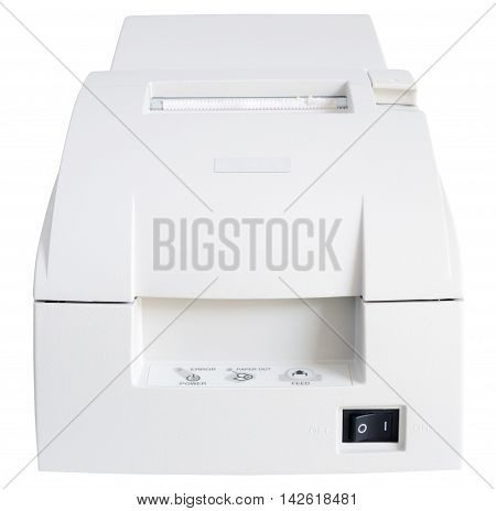 Termo printer front view isolated on the white background