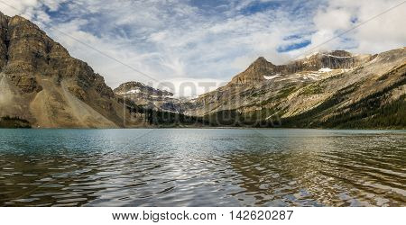 Morning at Bow Lake, Banff National Park, Alberta, Canada