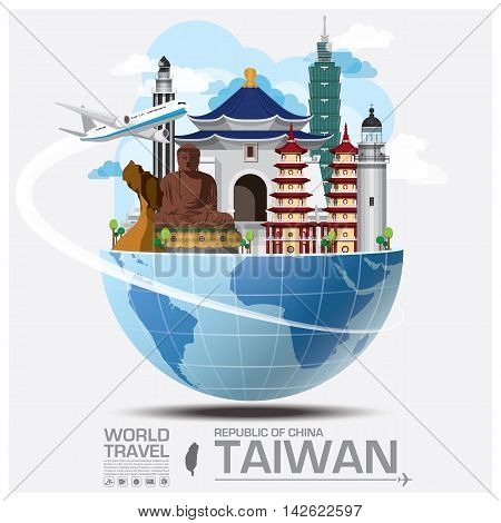 Taiwan Republic Of China Landmark Global Travel And Journey Infographic Vector Design Template