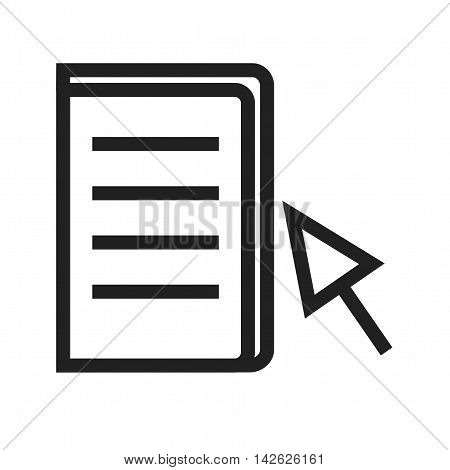 Book, learning, ebook icon vector image. Can also be used for E Learning. Suitable for mobile apps, web apps and print media.