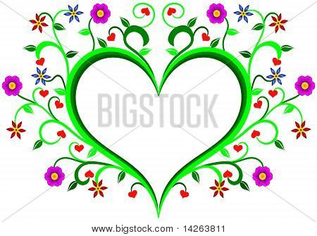 Floral heart, mother's day