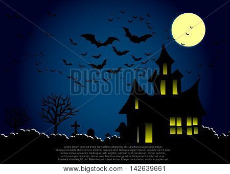 Graphics card for Halloween.Vector illustrator EPS 10