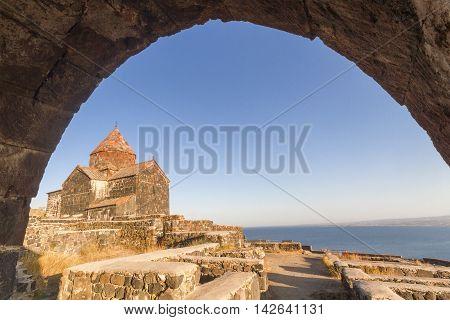 Church of Sevan known as Sevanavank in Armenia.
