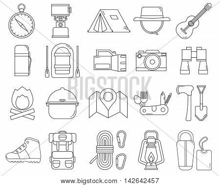 Camping Line Icons
