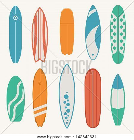 Different Surfboard Set