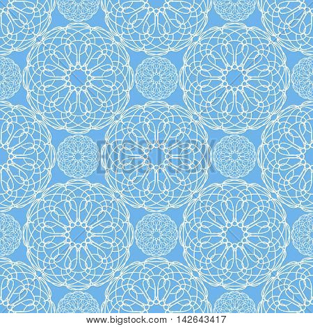 Abstract spirograph pattern. Geometric ornament. Vector seamless texture