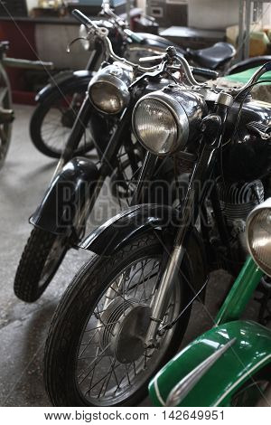 Soviet vintage technique - Old retro motorcycles