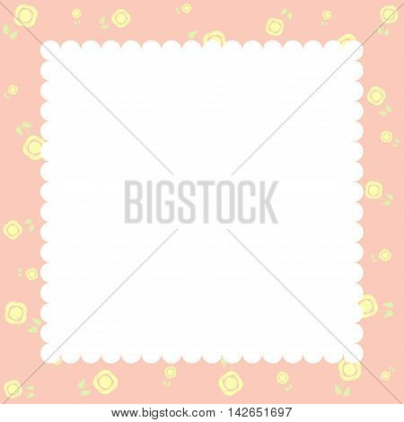 Invitation or Congratulation Card - for Wedding Baby Shower - in vector