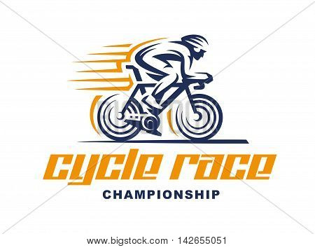 Cycling race Vector logo illustration, emblem design