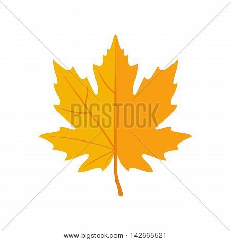 Autumn Leaves icon in flat style isolated on white background. Maple leaf. Vector illustration