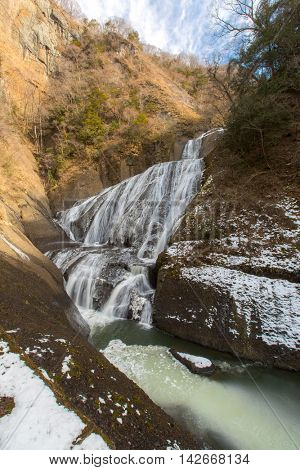 Fukuroda Falls Waterfall in Ibaraki Japan Winter