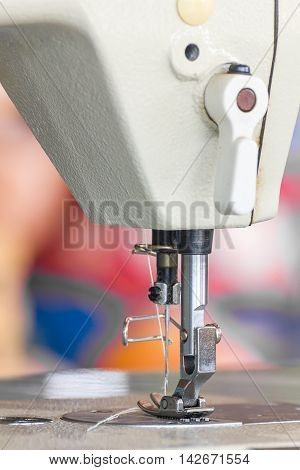 Close Up Industrial Sewing Machine