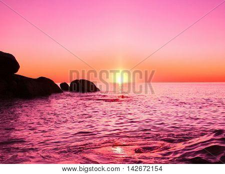 Coast Rocks Seascape