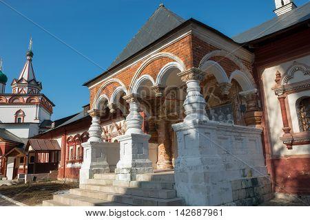 Royal palace of Queen Maria Romanova in Savvino-Storozhevsky monastery Zvenigorod Russia