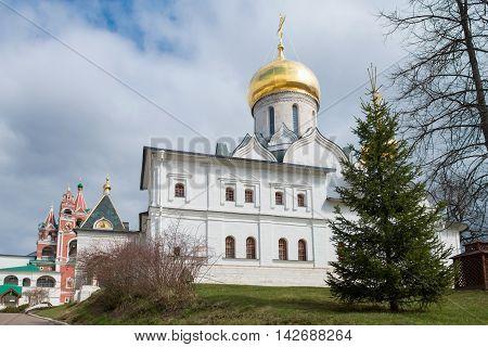 Medieval Savvino Storozhevsky monastery in Zvenigorod Virgin nativity cathedral Moscow region Russia