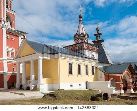 Trinity over-the-Gate Church in Savvino Storozhevsky monastery Zvenigorod Russia