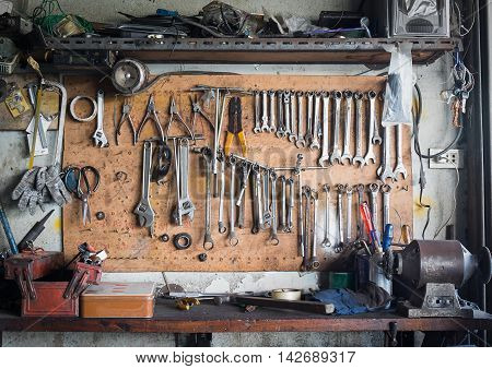 Tool Shelf Against A Wall