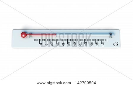 Weather Thermometer Isolated On White Background. 3D Rendering