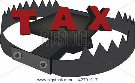 trap with written taxes pincer trap ready to snap with written taxes