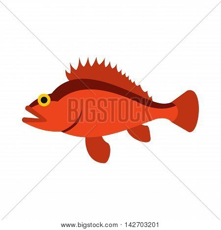 Ruff icon in flat style isolated on white background. Sea creatures symbol