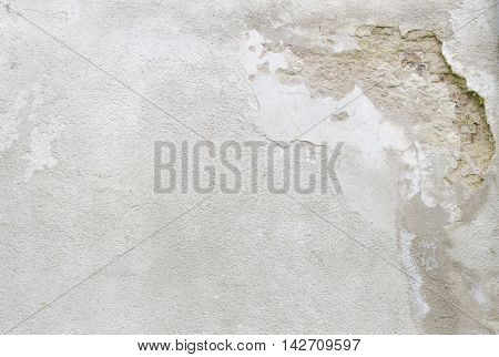Abstract old grey grunge concrete wall texture for background