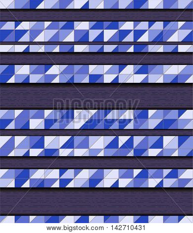 Blue background with mosaic. Illustration 10 version