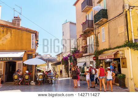 Old Town Of Saint Tropez, France