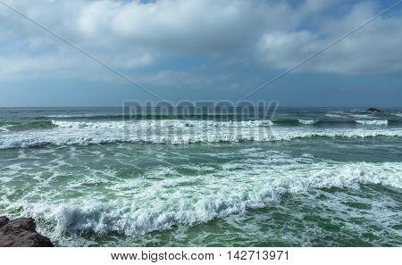 Scenic view of the Atlantic Ocean Coast Morocco Africa